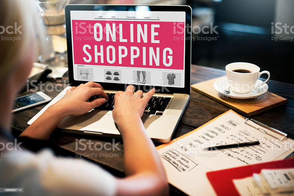 Online Shopping Purchasing Commercial Electronic Concept stock photo