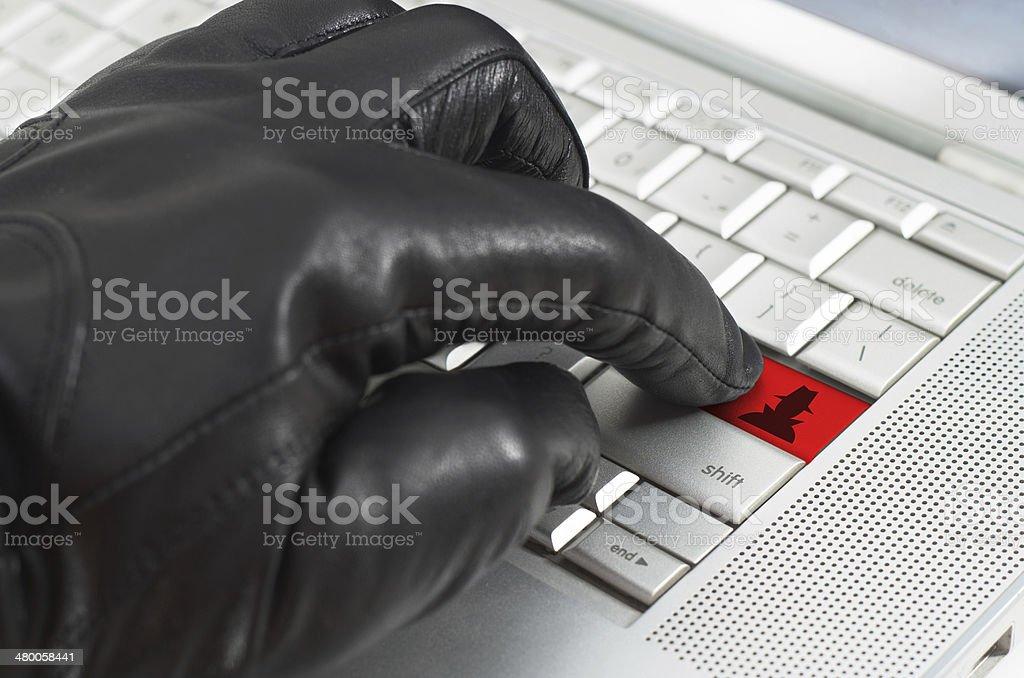 Online spy ware concept stock photo