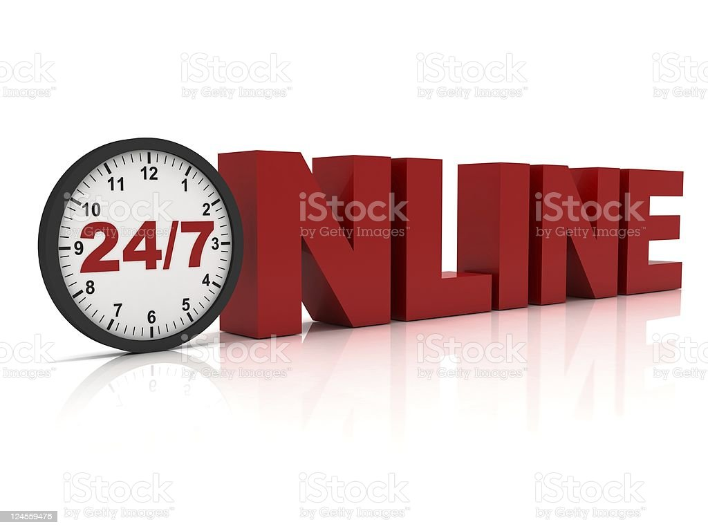 Online Support royalty-free stock photo
