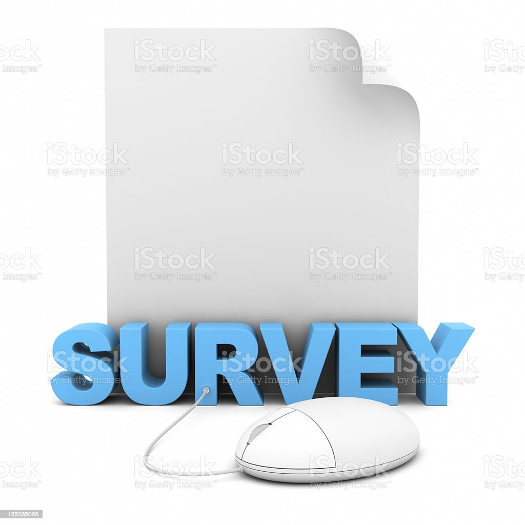 Online Survey royalty-free stock photo