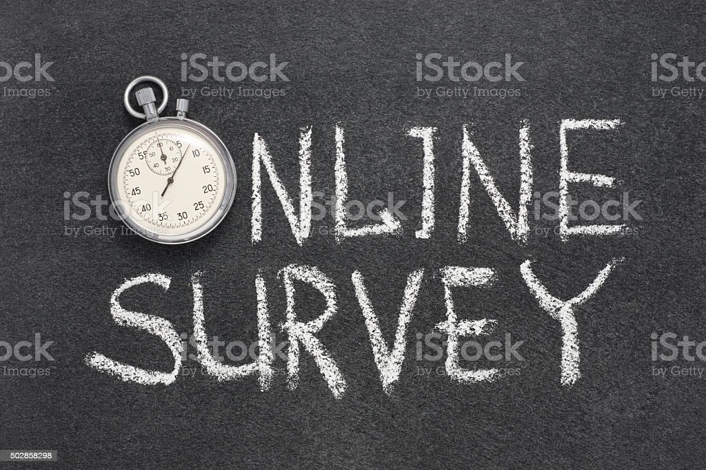 online survey watch stock photo