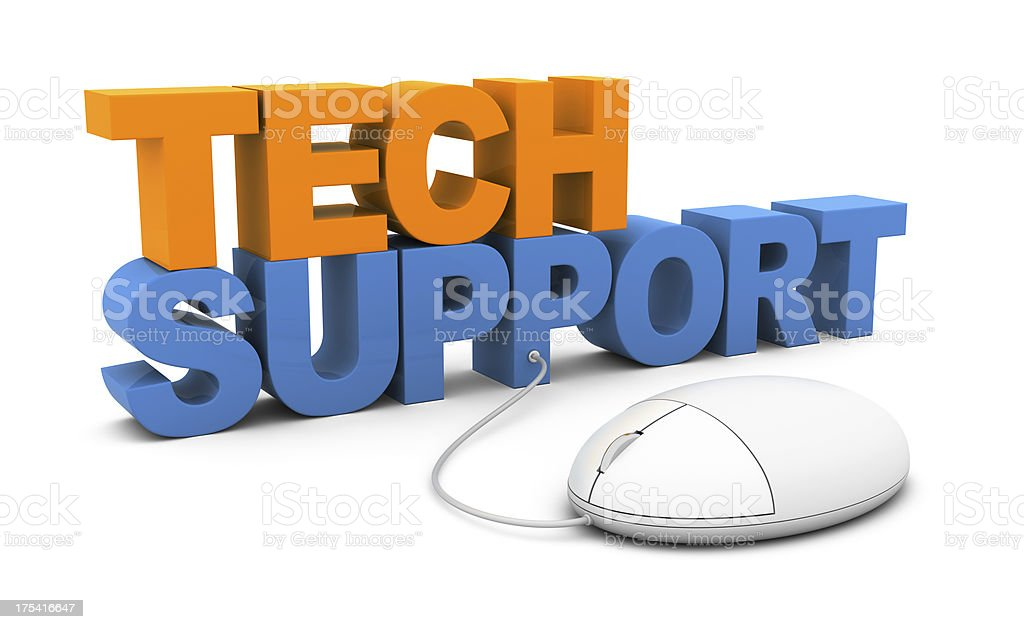 Online Tech Support royalty-free stock photo