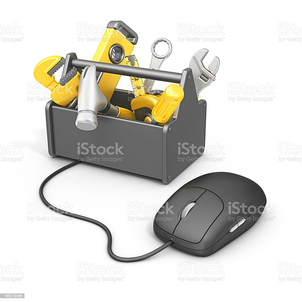 online tools royalty-free stock photo