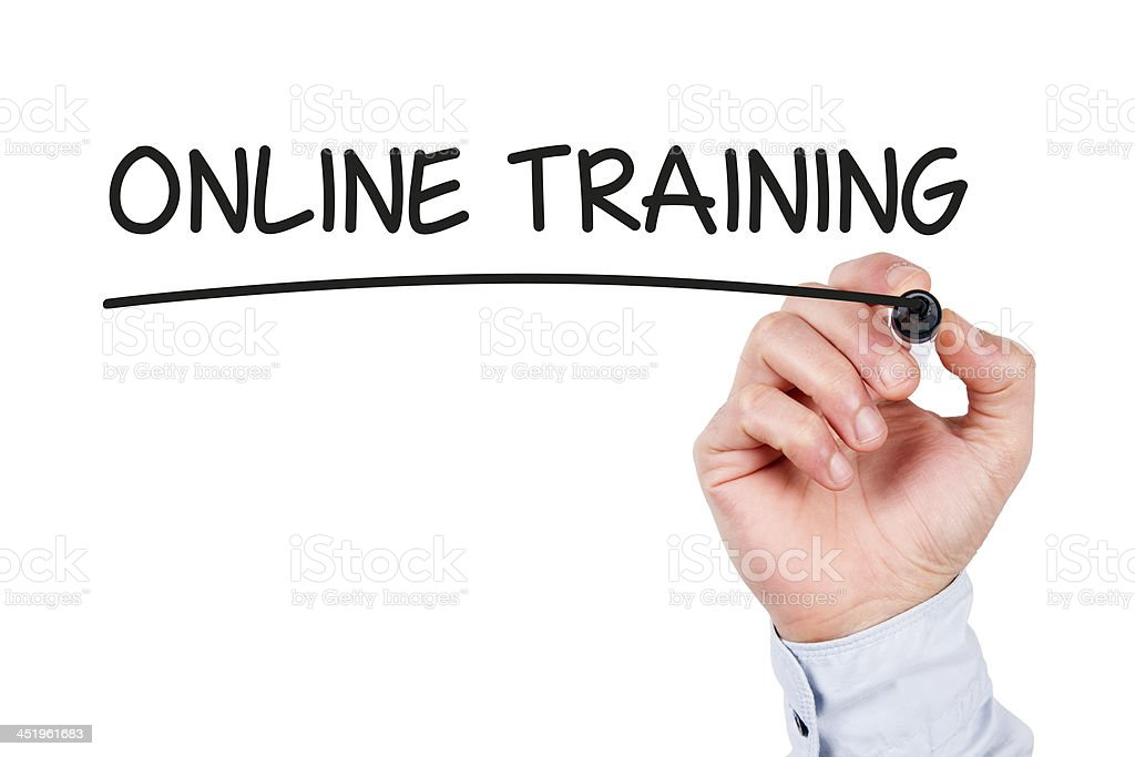 Online Training Concept royalty-free stock photo