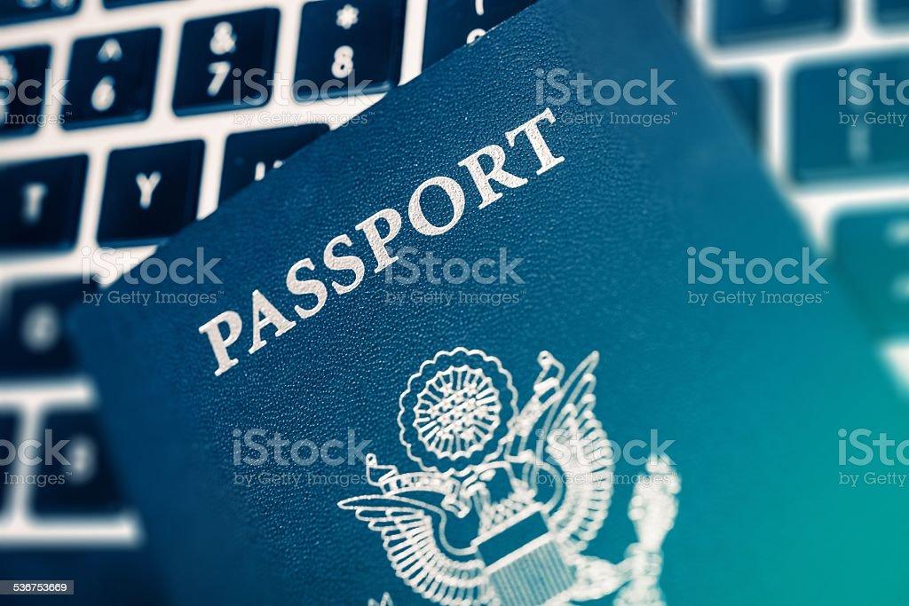 Online Travel Planning stock photo