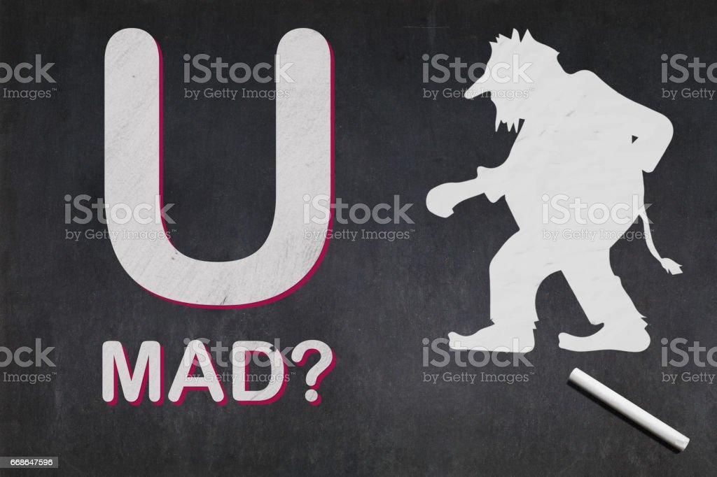 U MAD - Online trolling stock photo
