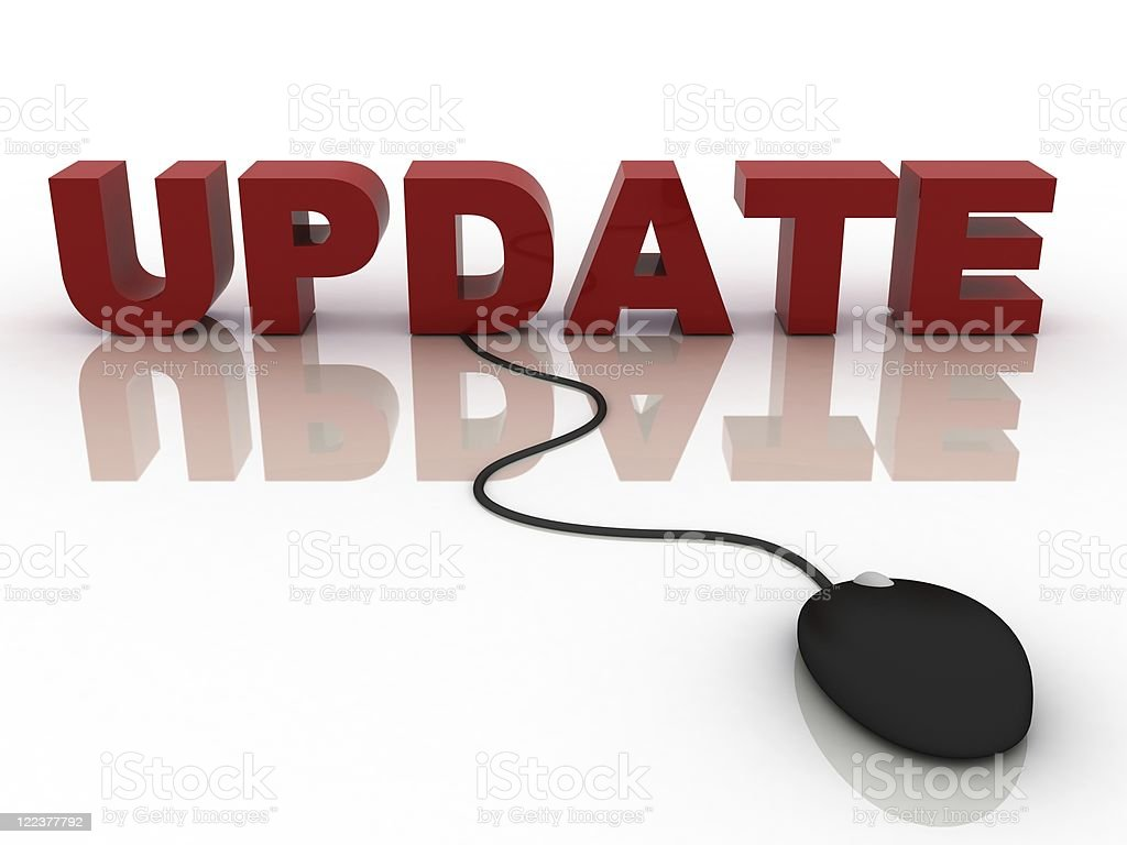 Online Update royalty-free stock photo