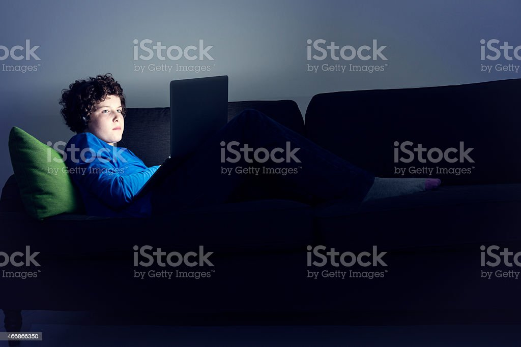 Online Young Teen stock photo