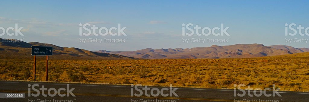 Only 112 Miles To Death Valley stock photo