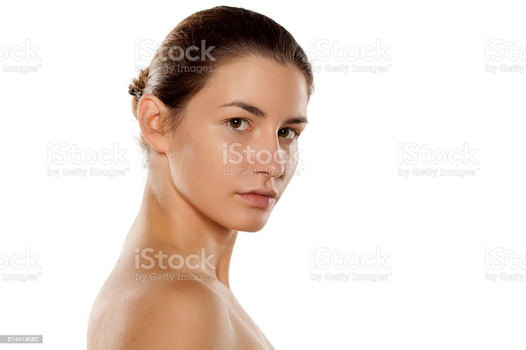 only base on her face stock photo