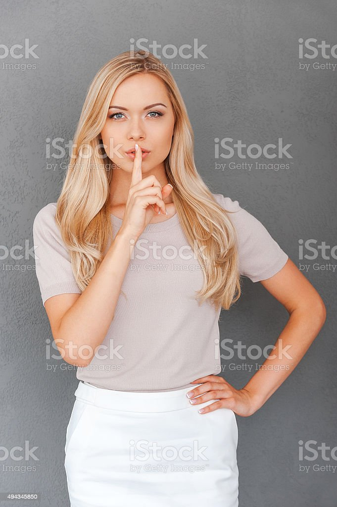 Only between you and me! stock photo