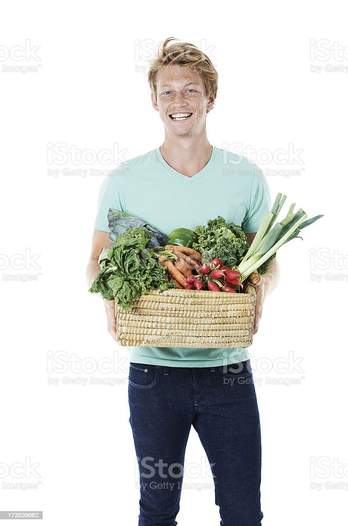 I only eat organic royalty-free stock photo