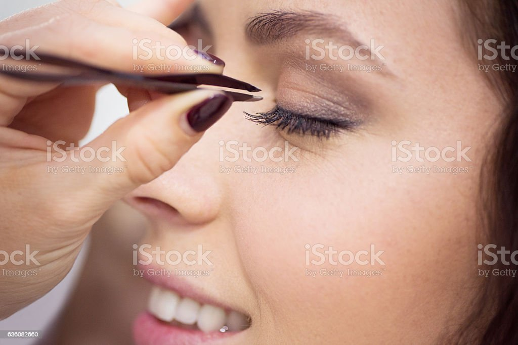 I only enjoy the drama that's in my lashes stock photo