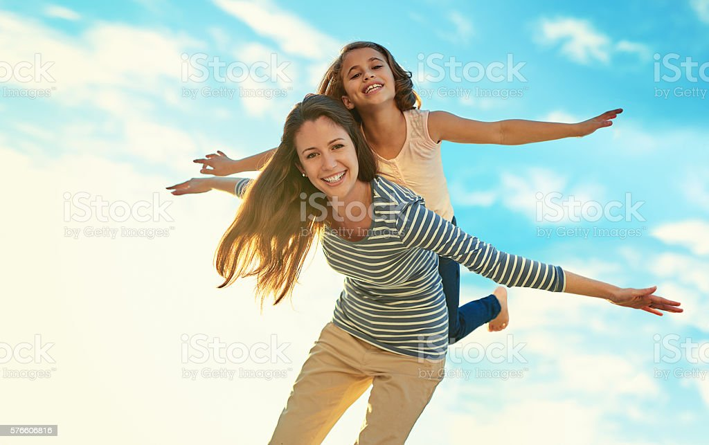 I only fly Mom Airlines stock photo