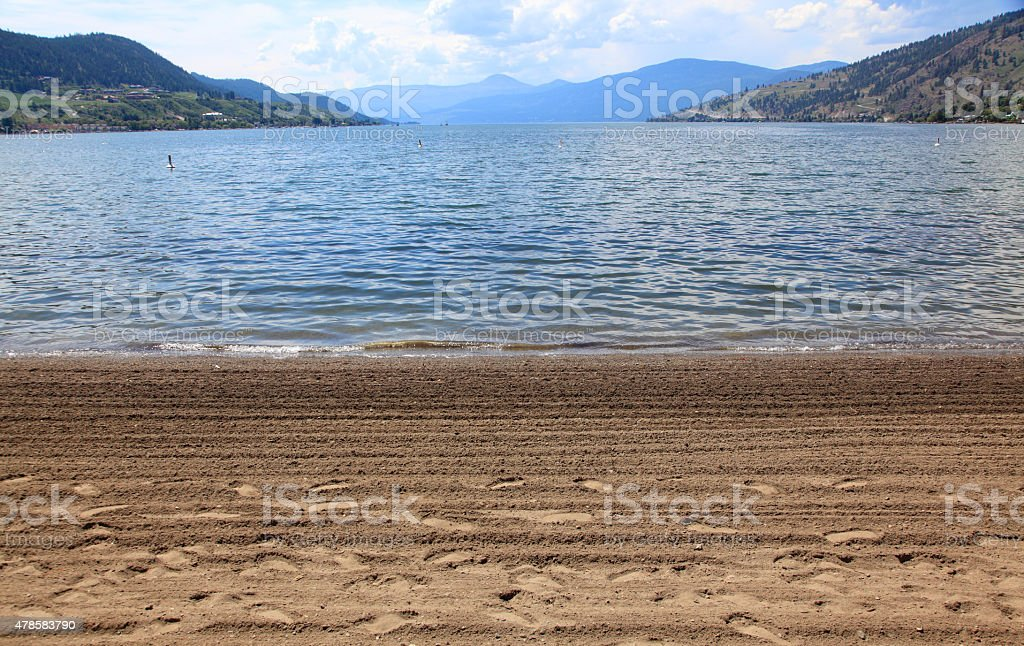 Only Footprints Are At The Beach stock photo