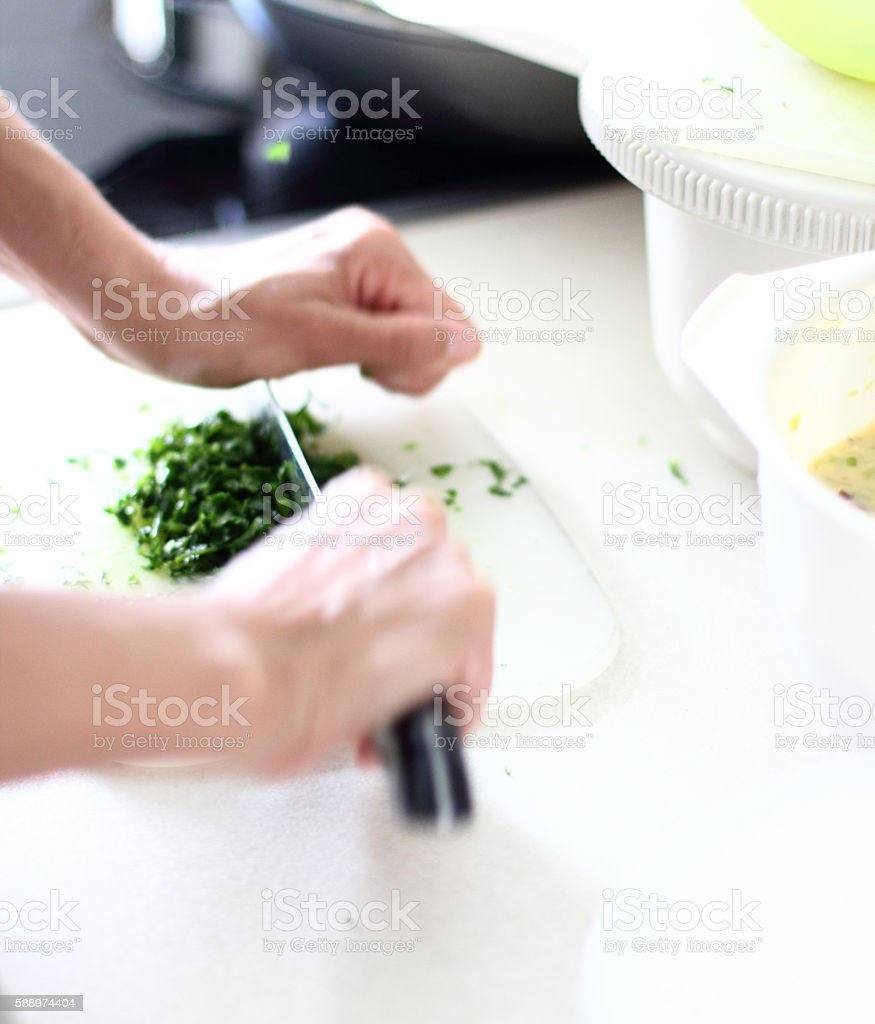 Only hands-making food stock photo