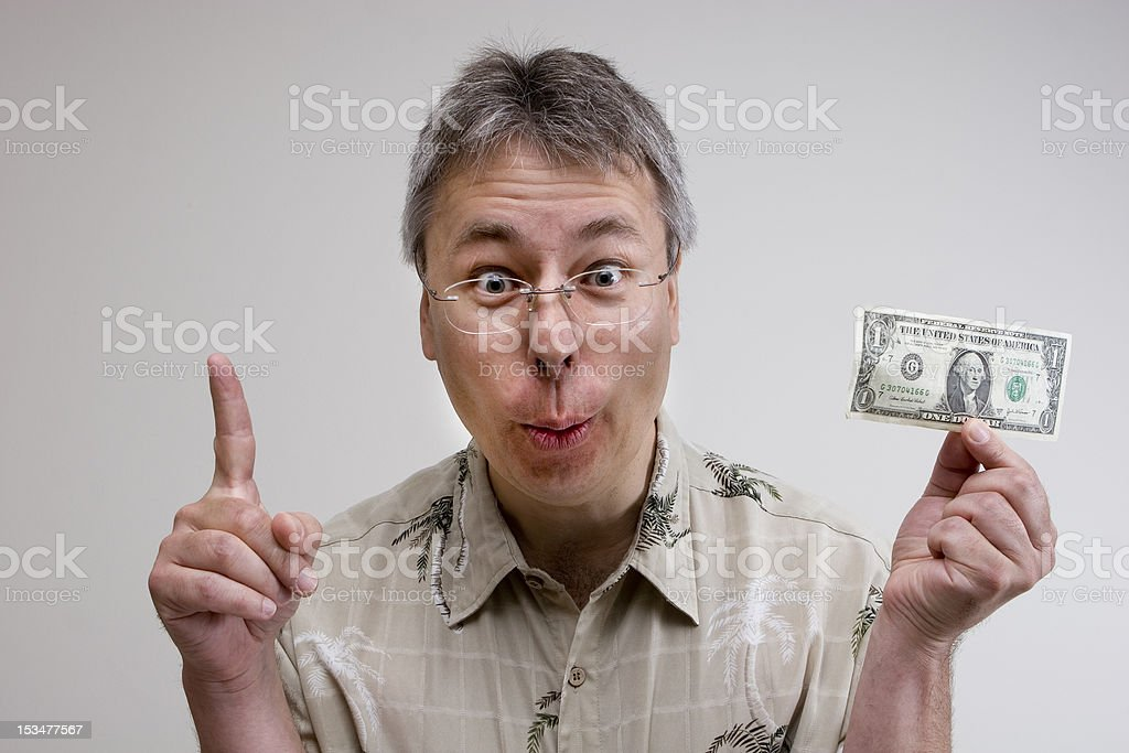 Only one dollar ! royalty-free stock photo