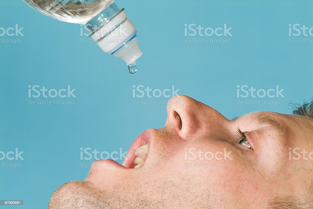 Only One Drop royalty-free stock photo