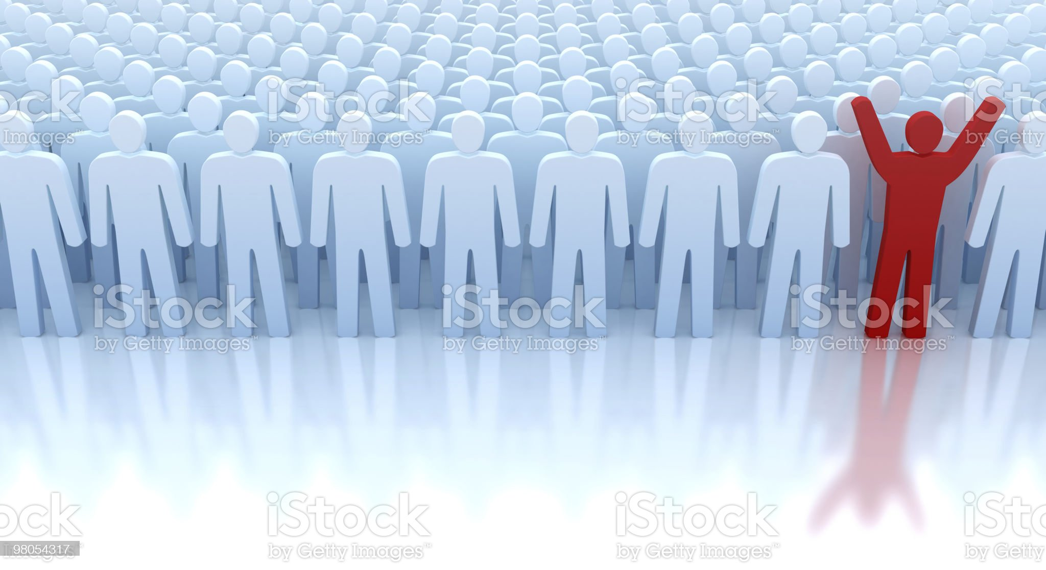 Only one winner from the crowd royalty-free stock photo