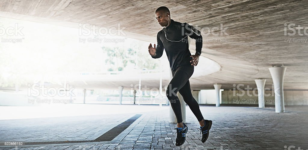 Only persistence leads to the goal stock photo