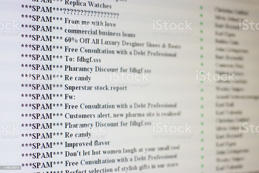Only Spam In The Mailbox stock photo