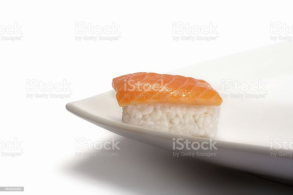 Only Sushi Nigiri. Typical Japanese Food royalty-free stock photo