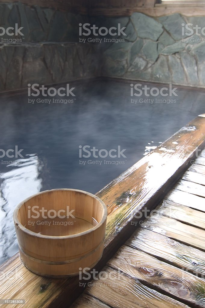 Onsen stock photo