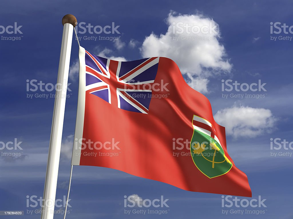 Ontario flag (with clipping path) royalty-free stock photo