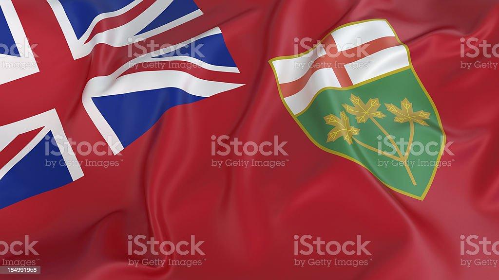 Ontario Flag stock photo