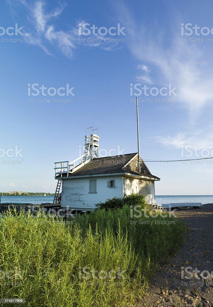 Ontario Lake Lifeguard House royalty-free stock photo