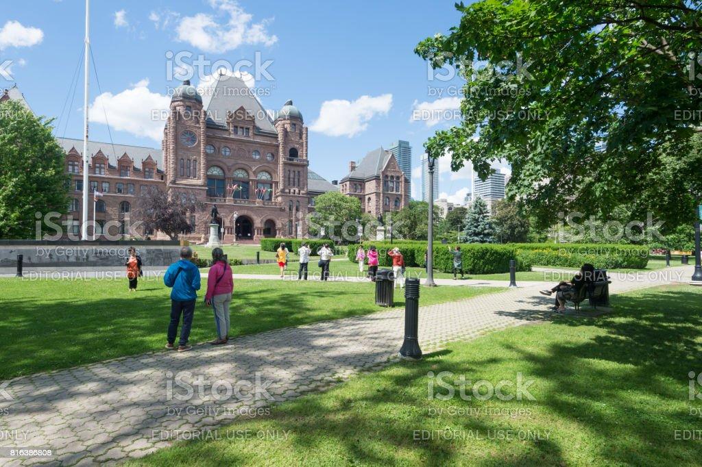 Ontario Legislative Building in Queen's park stock photo