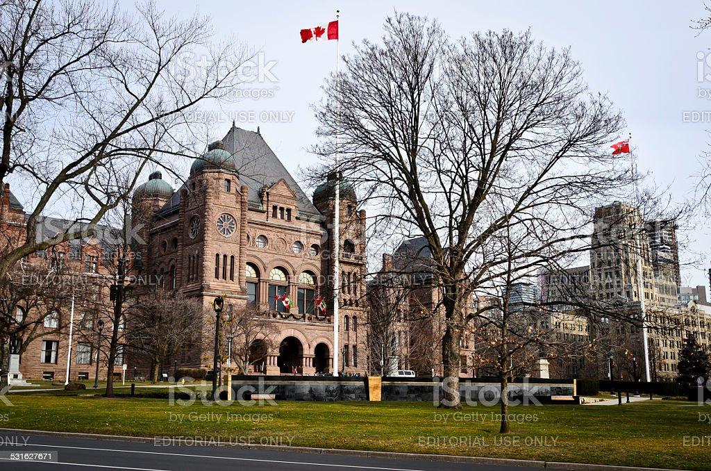 Ontario Legislative Building, Queens Park royalty-free stock photo