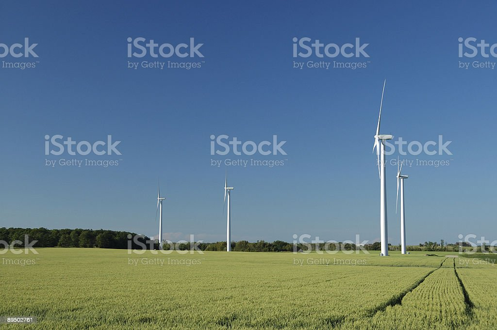 Ontario power generating wind farm stock photo