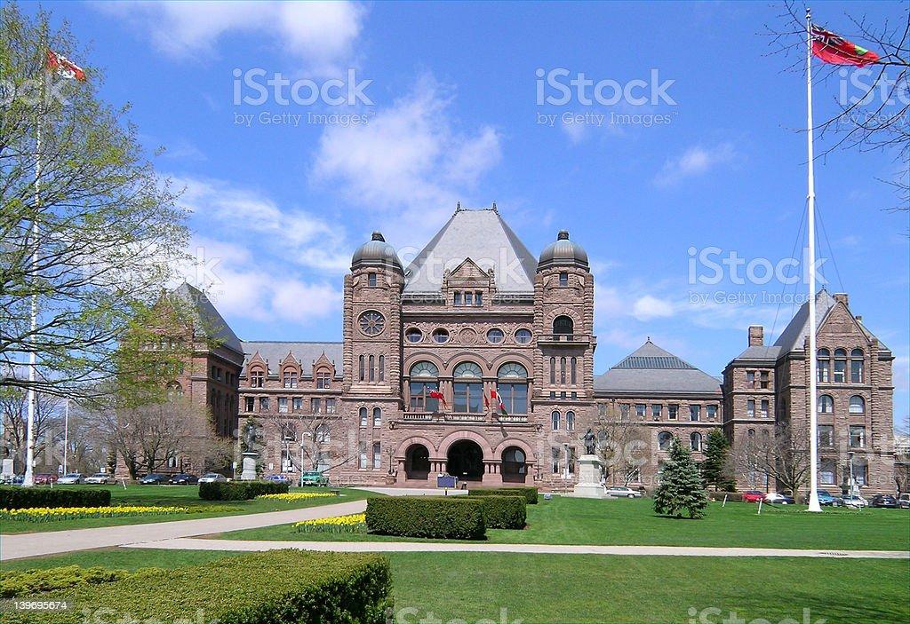 Ontario Provincial Parliament Legislature Building stock photo