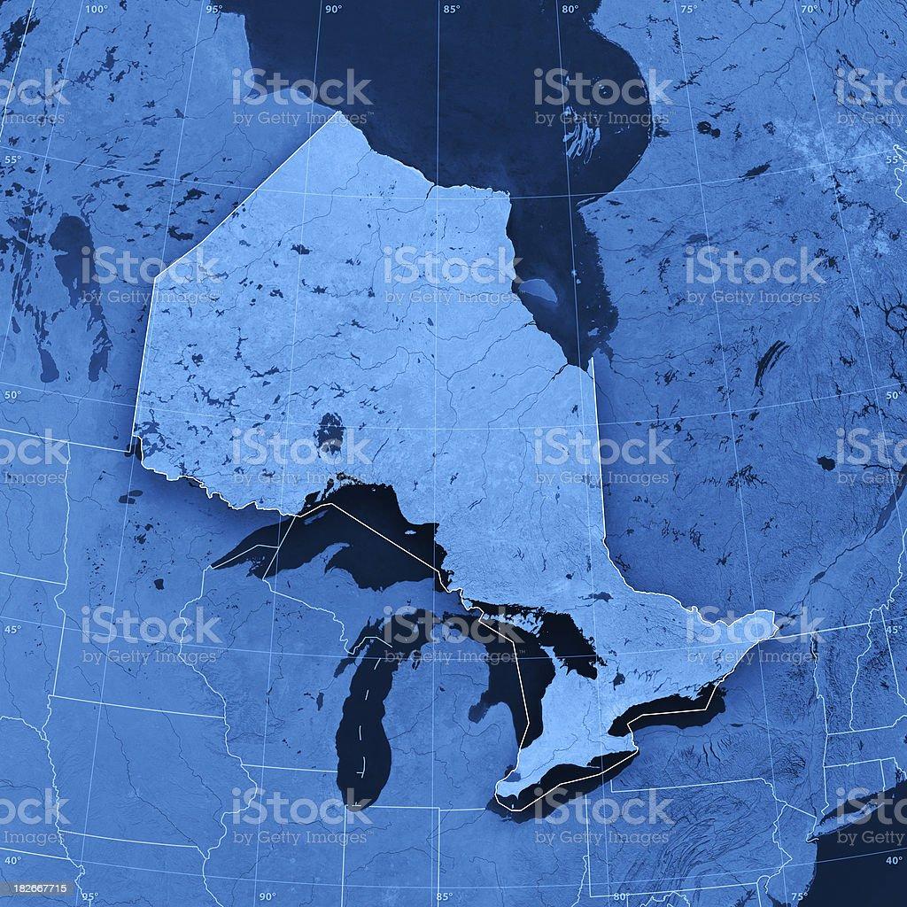 Ontario Topographic Map stock photo