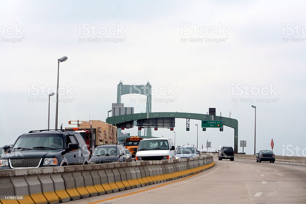 Onto the Walt Whitman Bridge royalty-free stock photo
