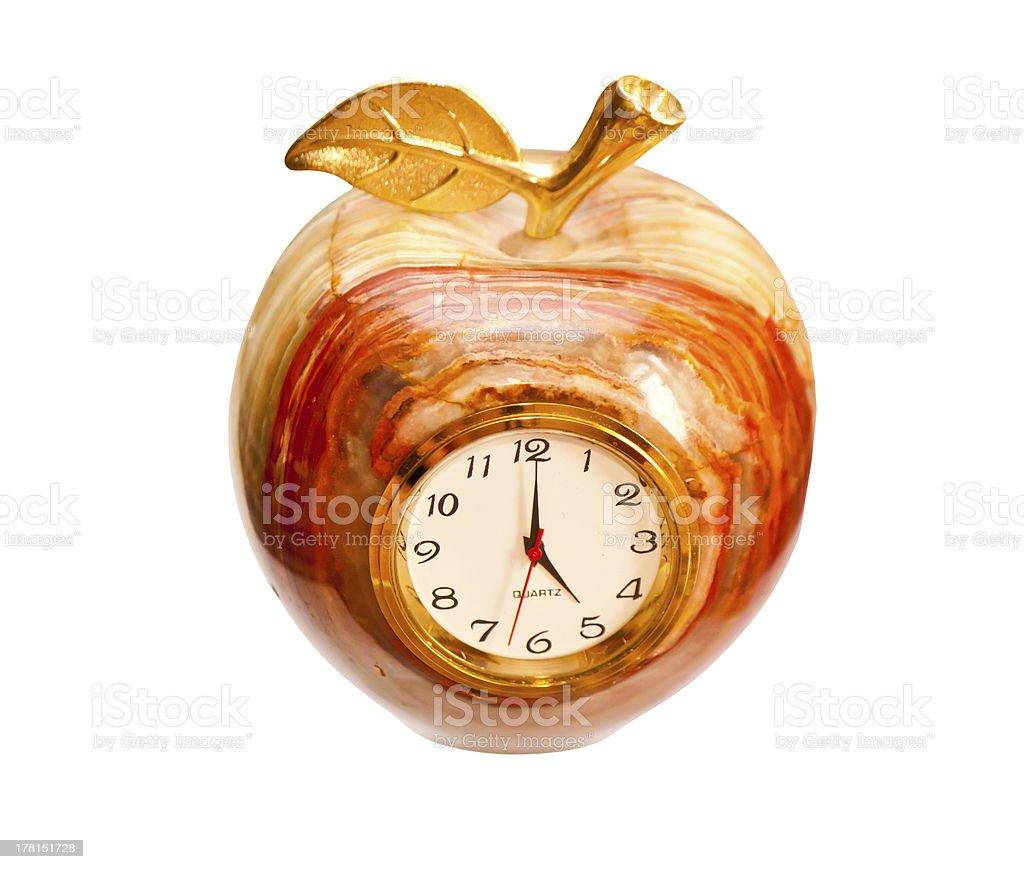 Onyx clock isolated on white background royalty-free stock photo