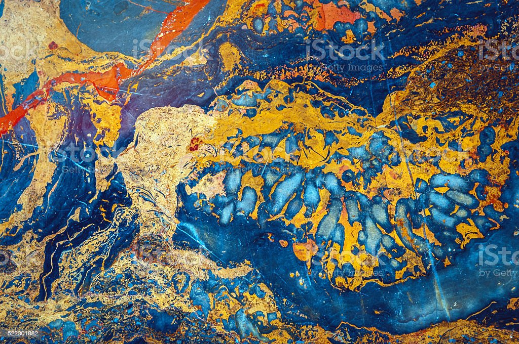 Onyx marble,blue,orange, yellow, red, green, brown,Beijing,China stock photo