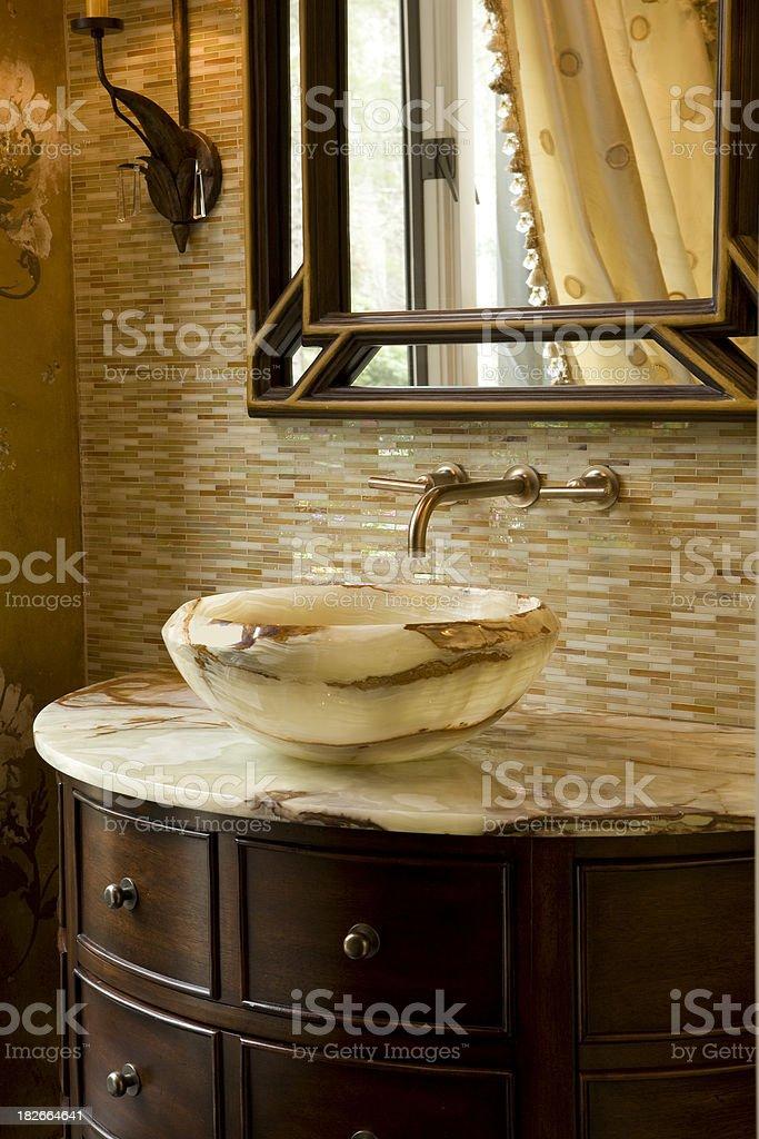 Onyx Vanity with custom bowl royalty-free stock photo