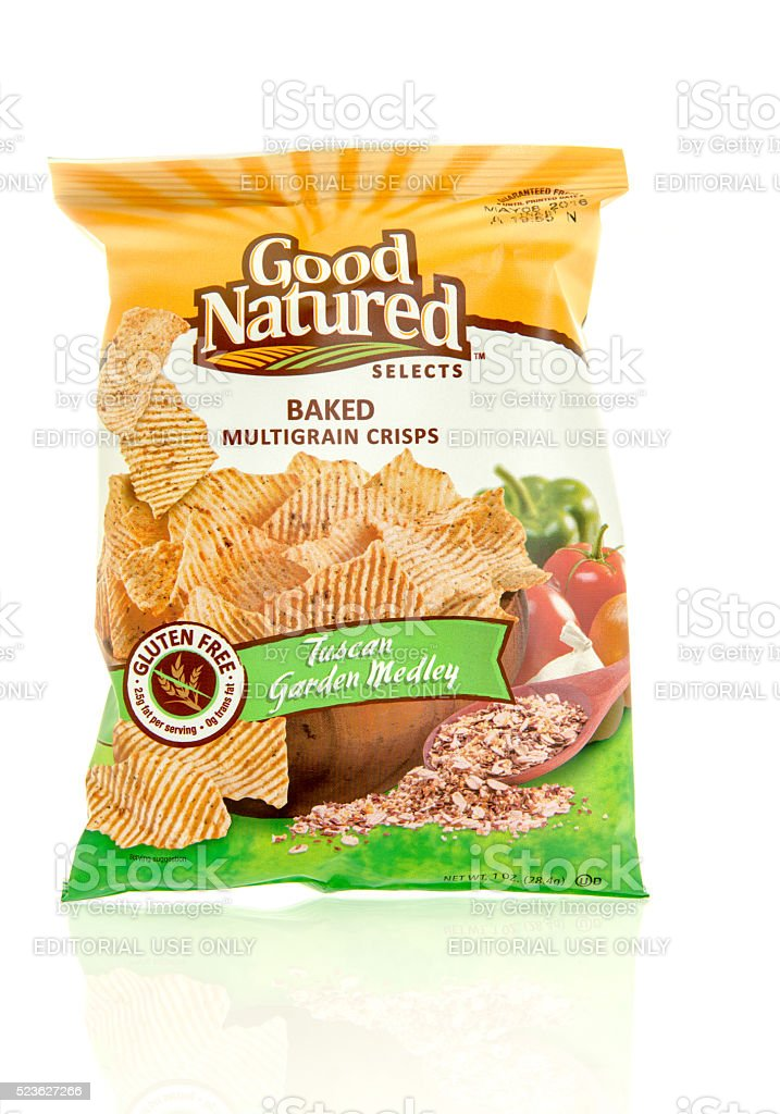 ood Natured Selects Baked  Chips stock photo