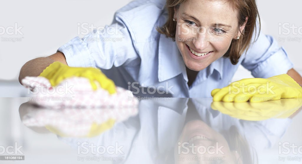 Ooh, I missed a spot! royalty-free stock photo