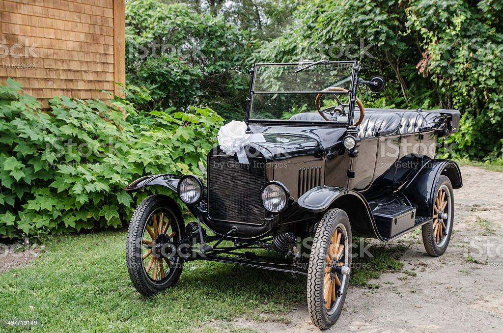Oold antique car stock photo