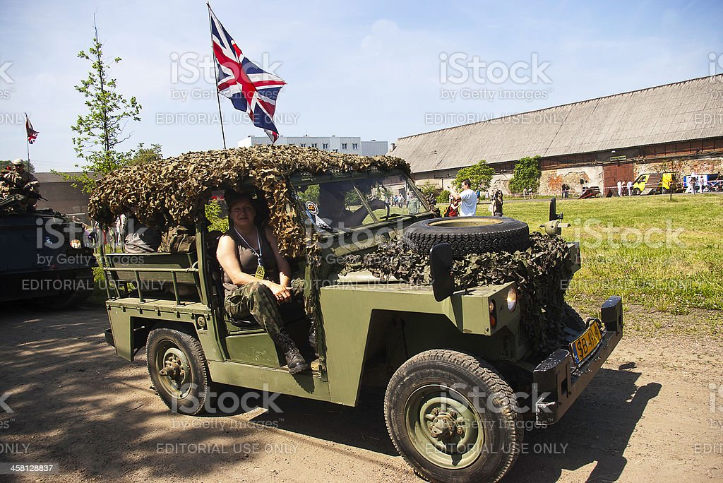Oold military cars royalty-free stock photo