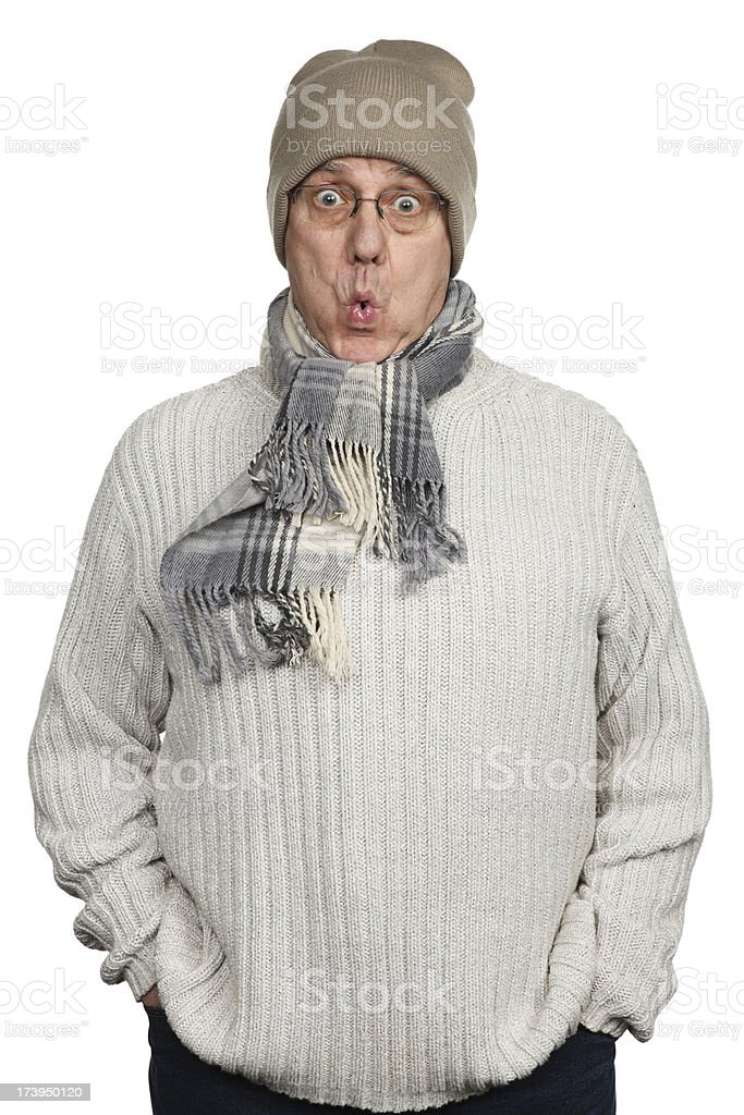 Oooh, it's cold! royalty-free stock photo