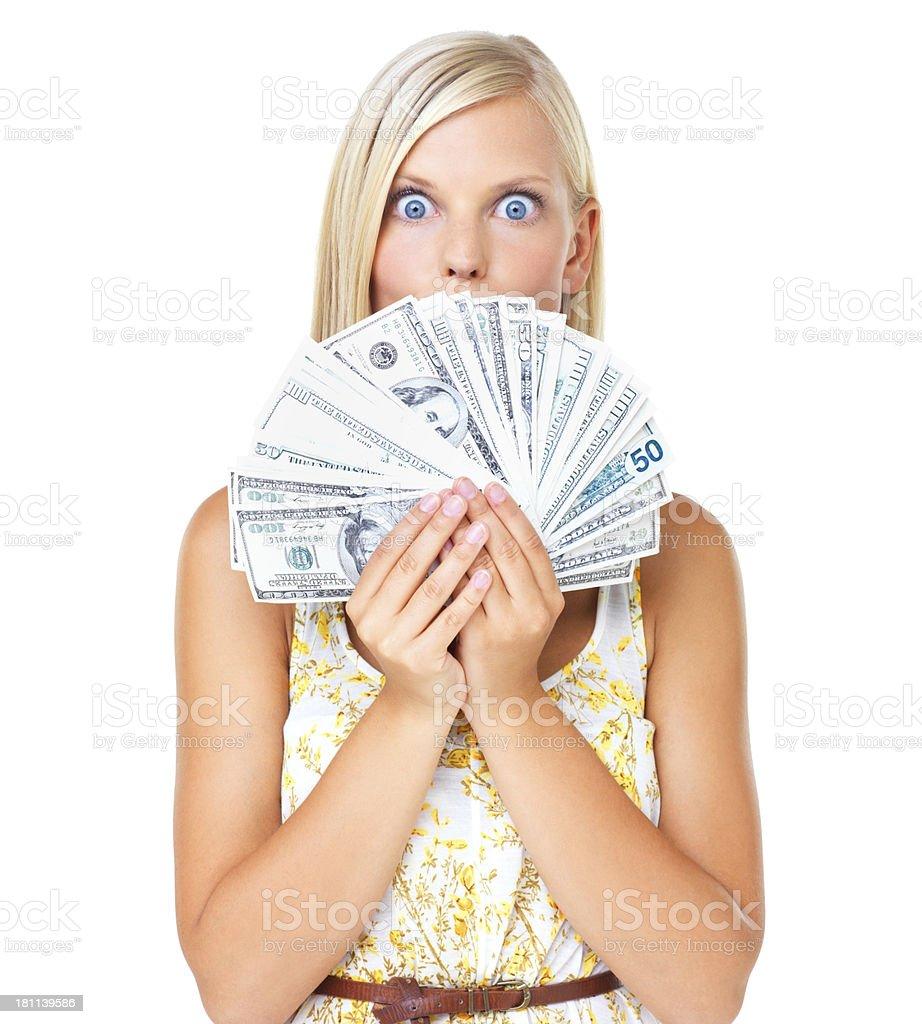 Ooooh! Money mania! royalty-free stock photo