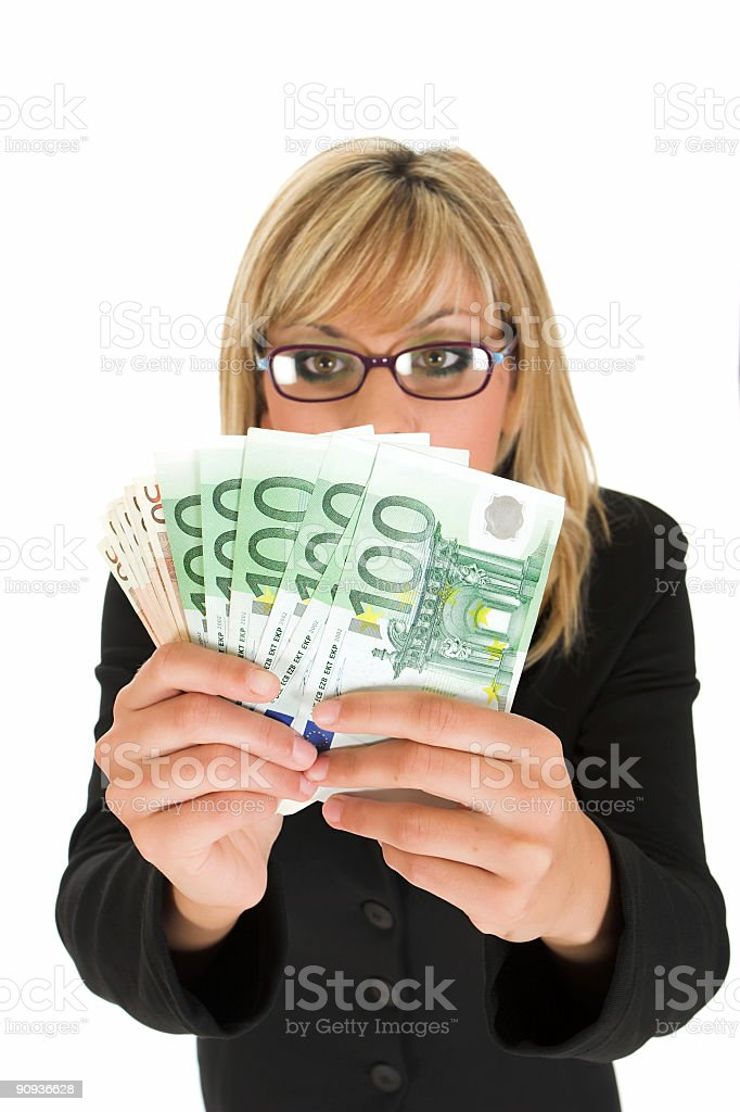 Ooops, money stock photo