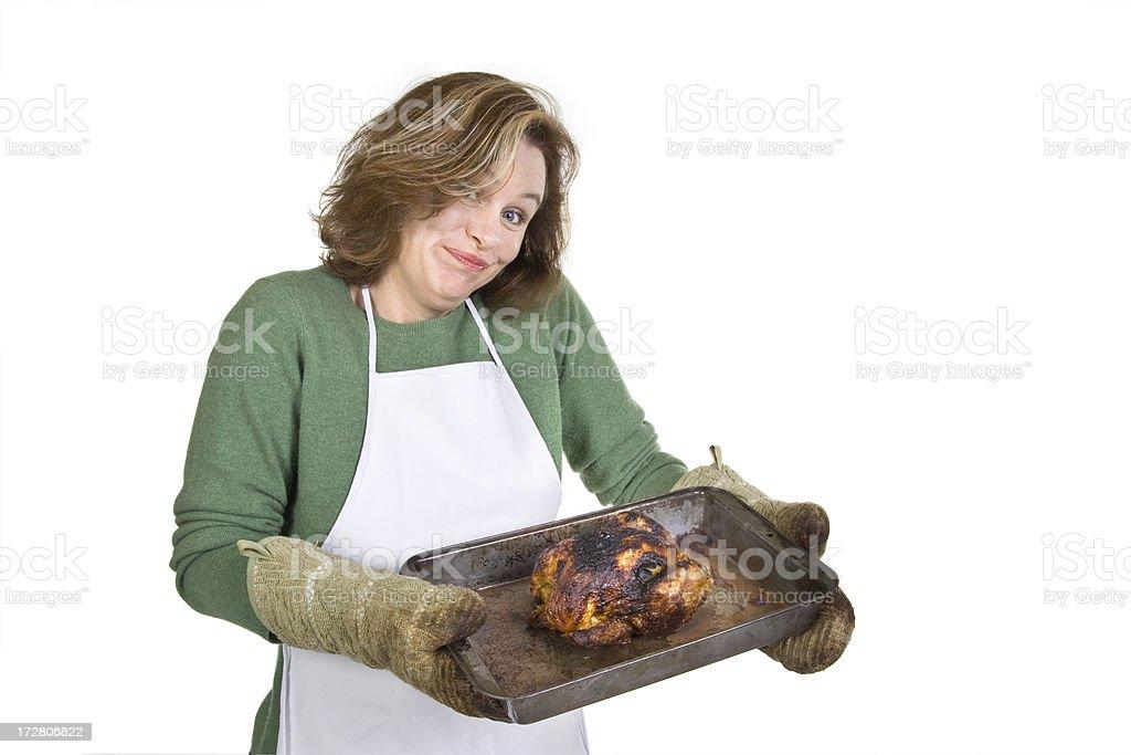 Oops. Burnt. stock photo