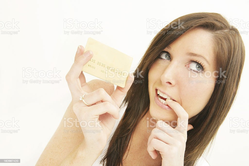 Oops.  Credit Card Bill. royalty-free stock photo