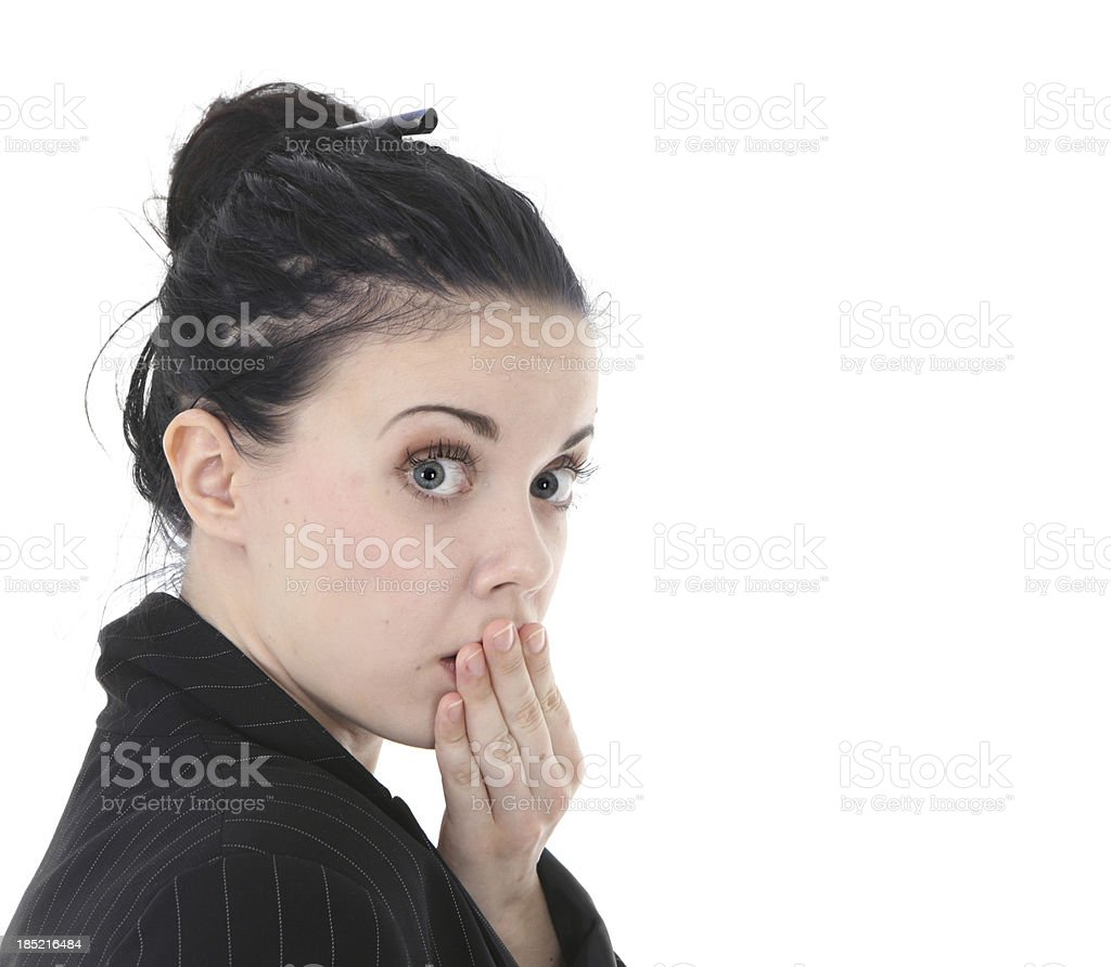 Oops - Don't tell anyone royalty-free stock photo