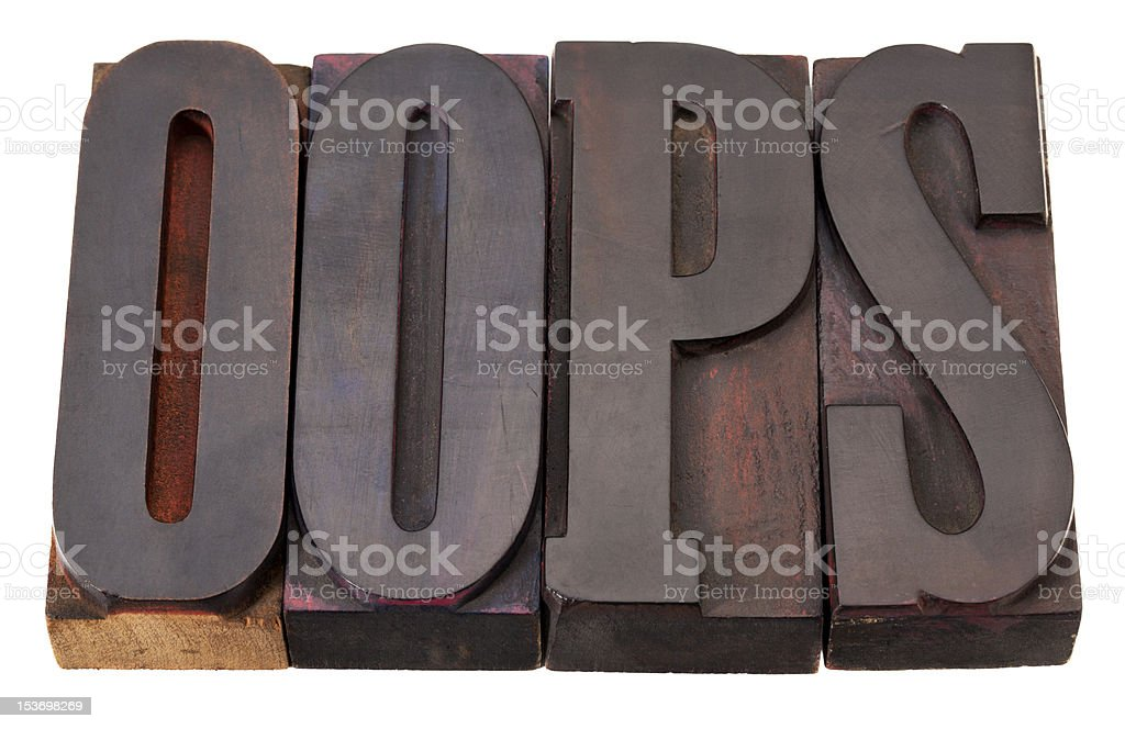 oops exclamation word royalty-free stock photo